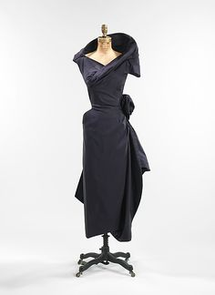Charles James, Cocktail Dress in Silk with Standing Collar. American, 1952.