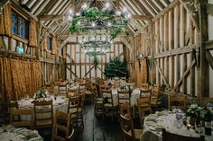 Rustic Barn Winter Wedding | Suzanne Neville 'Gracie' Gown | Gate Street Barn in Surrey | Navy Multiway Bridesmaid Dresses | Foto Memories | http://www.rockmyweding.co.uk/helen-jonny/