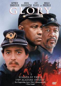 Glory (1989). Matthew Broderick, Morgan Freeman, Denzel Washington.