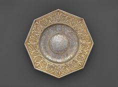 "Unidentified Master P.M.. Octagonal dish, ca. 1650, with later ornamentation. Hungarian, Beszterce. The Metropolitan Museum of Art, New York. Gift of The Salgo Trust for Education, New York, in memory of Nicolas M. Salgo, 2010 (2010.110.23) | This work is featured in our ""Hungarian Treasure: Silver from the Nicolas M. Salgo Collection"" exhibition on view through October 25, 2015 #HungarianTreasure"