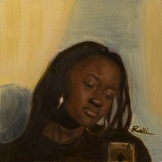 "Lorenzo Sammartino aka Rolli on Instagram: ""Priscilla #oil on #panel 17x17cm #oilpainting #portrait #painting #girl #beauty #selfie #selfiegirl…"""