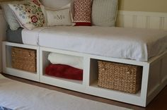 Diy Twin Bed Frame With Storage Twin Bed Storage                                                                                                                                                                                 More