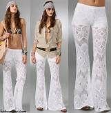 Boho pants white  adorable