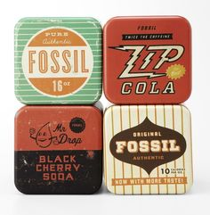 Love graphic solutions that borrow from past eras. Don't you love Fossils retro imagery?