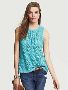 Perforated Lace Top Banana Republic (Size S in horizon blue or white)