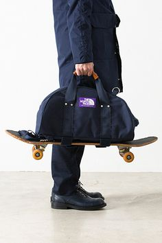 THE NORTH FACE PURPLE LABEL 3-Way Duffle Bag skateboarding travel navy black…