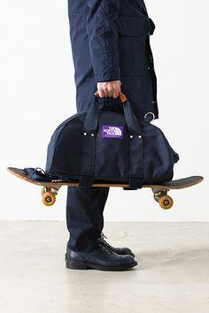 THE NORTH FACE PURPLE LABEL 3-Way Duffle Bag skateboarding travel navy black…