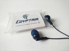 Egyptair Earbuds Custom EgyptAir Earbuds, dispossable earline earbuds job 2018; + Double pins design (one fixed pin, another active pin); + Stereo earbuds with custom color; + Custom PVC case with printed inserted card;  http://www.earphoneswholesale.com/project/egyptair-earbuds/