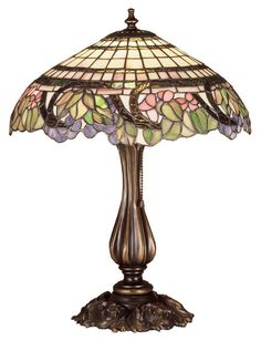 "Tiffany 19"" H Table Lamp with Bowl Shade"