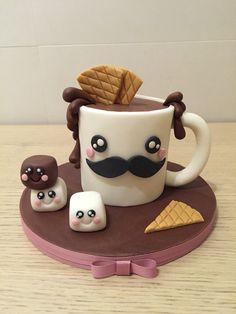 ChocoCup Cake Decorating Videos, Cake Decorating Techniques, Tea Cakes, Cupcake Cakes, Cupcakes, Pink Cakes, Shoe Cakes, Tortas Light, Coffe Mug Cake