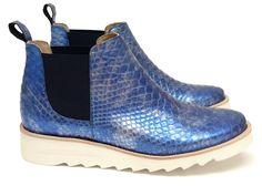 Chaussure Femme Boots Printemps Ete 2015 Maurice Manufacture BRENDA Cristaux Mer Encre Marine