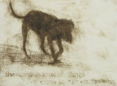 Catherine Macdonald, she went in look of things that came to her on the wind, drypoint on 185 x 265 mm paper, from an edition of 10, ...