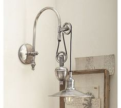 Packard Pulley Single Sconce #potterybarn