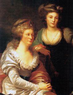 1788-1790 Józefina Amalia Potocka and her daughter Pelagia by Johann-Baptist Lampi the Elder