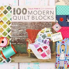 @gnomeangel is doing #100days100blocks again, and this year she's using ALL @cottonandsteel Fabric AND Cotton+Steel Thread by Sulky!   For 100 days, she'll be doing an Instagram quilt-along making @Tula Pink's City Sampler quilt. There are over $1500 prizes you can get for participating (😱) plus you'll have an amazing quilt at the end! It starts on May 7th so there's still time to get ready.