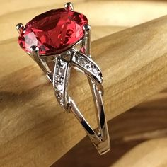 .925 silver 3ct  Tourmaline  & White Topaz   Ring| CH 060. Starting at $1