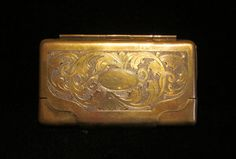 Vintage 1930s Match Safe Business Card Case by classiccollector