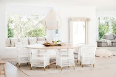 Three Birds Renovations - Bonnie's Dream Home - Casual Dining Room Coastal Farmhouse, Modern Coastal, Coastal Homes, Farmhouse Ideas, Style Blanc, Rooms Ideas, Three Birds Renovations, Casual Dining Rooms, The Design Files