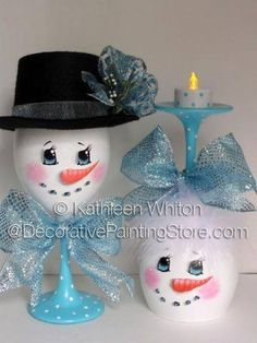 Cute snowman couple!
