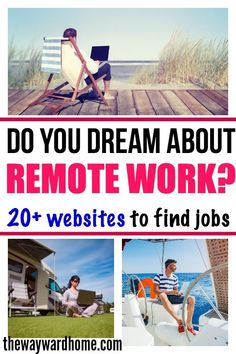 If you're dreaming about leaving that desk job and starting a new life of travel, what are you waiting for? There are so many remote work positions out there now, and more and more companies hire digital nomads. Check out this list of websites that ha Earn Money From Home, Make Money Fast, Rv Life, Digital Nomad, Find A Job, Work From Home Jobs, Online Work, Business Opportunities, Making Ideas