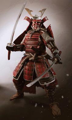 an armed Samurai Warrior / 武士 Bushi ( 侍 Samurai ) Geisha Samurai, Ronin Samurai, Samurai Warrior, Samurai Swords, Samurai Outfit, Real Samurai, The Last Samurai, Japanese Warrior, Japanese Sword