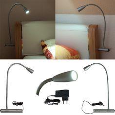 http://ift.tt/1JiSg0t L&E22222540  LED Bettleuchte Bettlampe Leselampe Nachttischleuchte 2er Set für linke und rechte Bettseite (kalt weiss); ##s