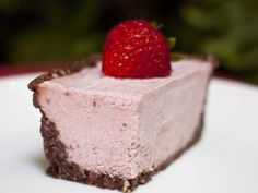 Healthy Strawberry Cheesecake