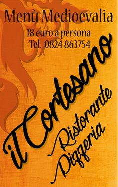 Dal 4 al 7 Settembre in occasione di Medioevalia a Faicchio (BN) offriamo un menù particolarmente accessibile evitandovi di ricorrere ai soliti pasti preparati in strada, al caldo a soli 18 euro.