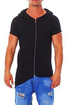 Redbridge Herren Swag Shirt Oversize T-shirt Hoodie M1037 schwarz M