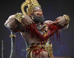 Bajarangbali Lord Hanuman by Kallesh Thippeswamy Hanuman Images Hd, Hanuman Ji Wallpapers, Hanuman Photos, Ram Pic, Bal Hanuman, Krishna, Photos Of Lord Shiva, Indiana, Lord Rama Images