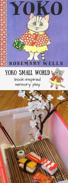 Book-inspired Sensory Play - inspired by Yoko by Rosemary Wells, this sweet small world set-up teaches about acceptance and diversity, and can be used to introduce children to learning about Japanese culture