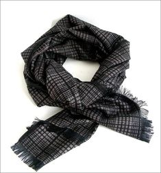 Black beige Cashmere man scarf wrap Écharpe Homme Luxe Man Scarf, Scarf Wrap e77d3667d32