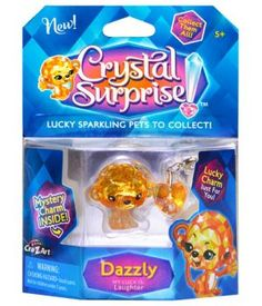 Crystal Surprise Pets by #CraZArt give you luck! Each have their own story, and #luck to share.  Meet Dazzly, whose luck is laughter! #CrystalSurprise