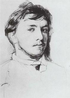 Self-Portrait - Valentin Serov, 1885 - Russian Museum, St. Petersburg