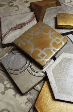 Tabarka tile in metal colors