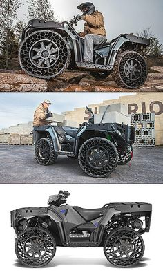 Video Shows Futuristic ATV with Airless Tires That Never Go Flat