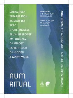 AUM Ritual invites you to an extended weekend of psy-trance, techno and experimental bliss: AUM Ritual would like to invite all you…