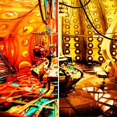 The TARDIS Consoles.