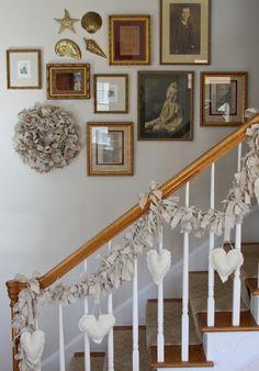 Valentine Decorations, Valentine Crafts, Holiday Crafts, Valentines, Holiday Decor, Valentine Wreath, Holiday Parties, Rag Garland, Fabric Garland