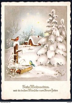 Merry Christmas and the best Wishes to the New Year - Vintage Christmas Images, Old Fashioned Christmas, Christmas Scenes, Christmas Past, Retro Christmas, Vintage Holiday, Christmas Pictures, Vintage Winter, Winter Christmas