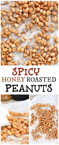 Spicy Honey Roasted Peanuts- A unique and delicious twist on the classic honey roasted peanuts- So simple, it would be sinful not to whip them up! Healthy and delicious!