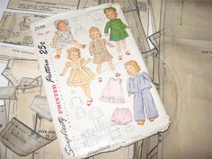 ORIGINAL Doll Clothing Pattern 2538 for 20 in Little Girl doll by Effanbee 1940s