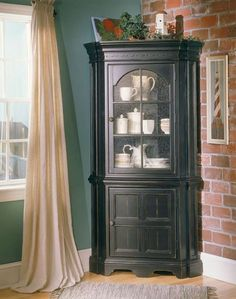 Richmond Corner Cabinet in chestnut - for entry way by door to ...