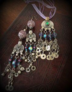 Kuchi Coin Necklace Kuchi Jewelry Tribal Jewelry by DancingTribe, $42.00