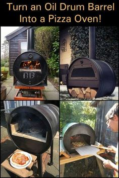 an oil barrel into a pizza oven! Turn an oil barrel into a pizza oven!,Turn an oil barrel into a pizza oven!, It's never too early for pizza🍕! Wood Fired Oven, Wood Fired Pizza, Wood Pizza, Pizza Pizza, Pizza Oven Outdoor, Outdoor Cooking, Brick Oven Outdoor, Barbecue Four A Pizza, Clay Pizza Oven