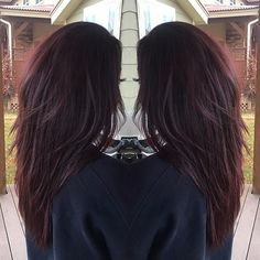 Black Coffee Hair With Ombre Highlights - 10 Cool Ideas of Coffee Brown Hair Color - The Trending Hairstyle Brown Hair Shades, Brown Blonde Hair, Brown Hair With Highlights, Light Brown Hair, Dark Red Brown Hair, Violet Brown Hair, Dark Brunette Hair, Red Hair Color, Brown Hair Colors