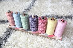 The most fabulous twine holder EVER! Simple and chic DIY by Craft Baby