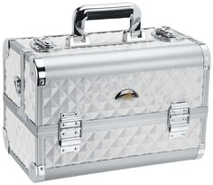 Fantasy Collection Makeup Artists Cosmetics Train Case - Silver diamond - TRAIN CASES