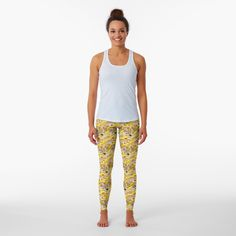 Promote | Redbubble Fall Leggings, Printed Leggings, Black Leggings, Designer Leggings, Designs For Dresses, Gold Print, Designs To Draw, Blouse Designs, Floral Designs