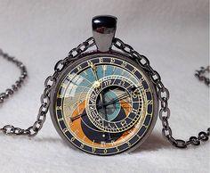 STEAMPUNK CLOCK Pendant Astronomical Clock by ThePendantGarden